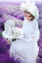 Woman In Victorian Lavender Fi...