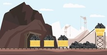 Coal Mine Industry And Transpo...