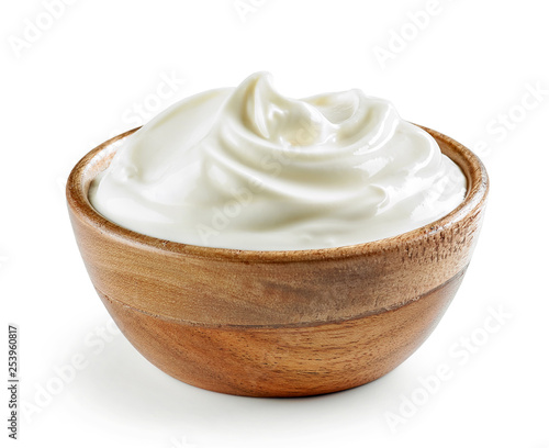 Stampa su Tela bowl of sour cream or yogurt
