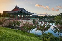 Anapji Pond At Sunset, Gyeongju, South Korea