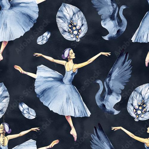 baletowy-bezszwowy-wzor-z-balerina-symbolami-tutu-pointe-labedz-sliczne-tlo-do-szkoly-baletowej-ulotek-z-zaproszeniami-na-lekcje-tanca-i-dekoracji-kart-zlota-i-rozowa-ilustracja-na-bialym-tle