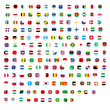 square All official national flags of the world design Vector