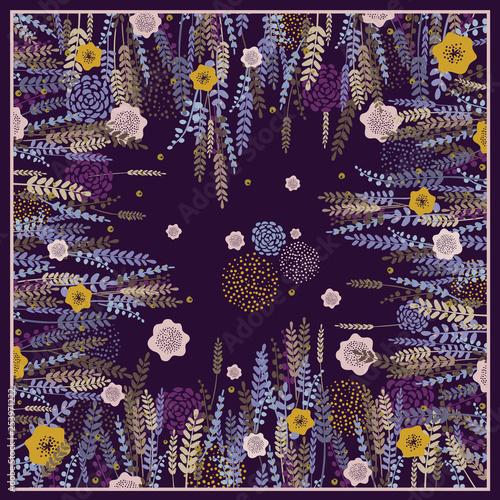 Fotografie, Obraz  Design scarf in vintage style