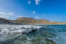 Salty Pieces On The Coastline Of The Dead Sea, Israel