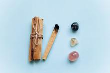 A Set Of Wooden Sticks Palo Sa...