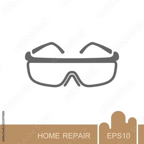 Safety goggles icon Tableau sur Toile