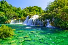 Waterfalls Krka In National Park, Dalmatia, Croatia
