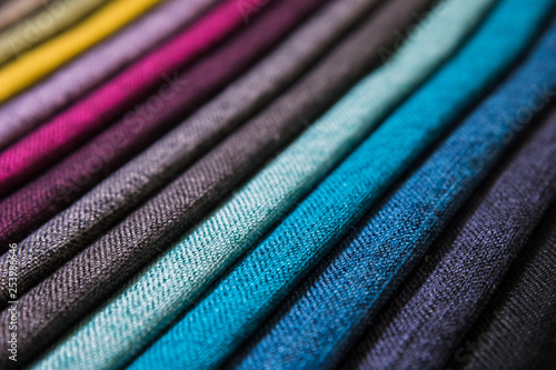 A set of samples of fabric furniture decoration lines of textile textures Slika na platnu