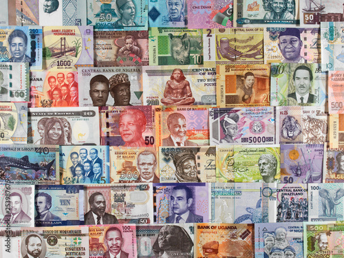 Fototapeta Africa currency notes. African money, trade, economy... obraz