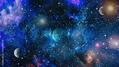 High quality space background Canvas Print
