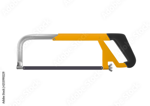 Hacksaw for metal vector illustration. Canvas-taulu