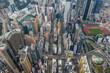 Top down view of Hong Kong urban city
