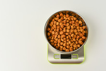 Dry Dog Food On Scales