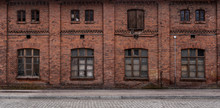 Panoramic Old, Grunge Urban/ Industrial Background With Copy Space