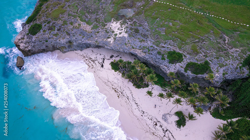 Aerial View to the Crane Beach, Barbados Island, Caribbean