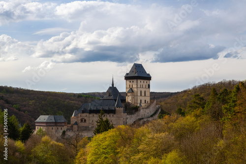 Photo  Famous Karlstejn castle  near Prague in Czech Republic.