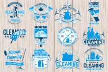 Cleaning Company Badge, Emblem...