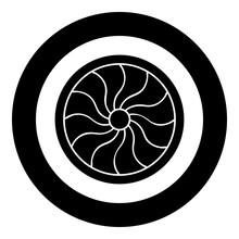 Viking Shield Icon Black Color...