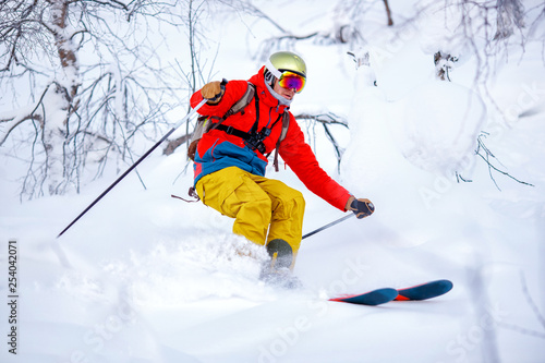 Fotomural  Concept extreme winter sport
