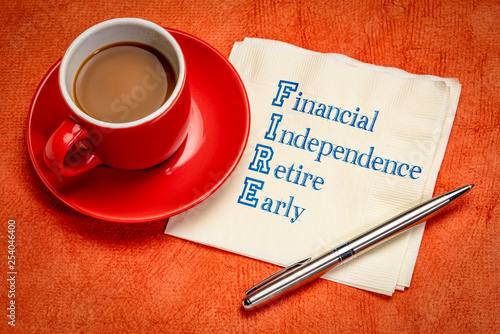 Photo FIRE - financial independence, retire early
