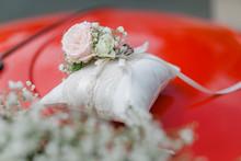 Hochzeitsauto, Roter Käfer, Autoschmuck