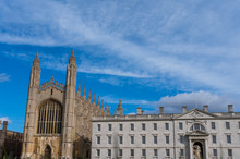 Cambridge City, United Kingdom - Exploring Campus Of Cambridge And Its Colleges On A Summer Day. Conceptual Image Of Education And Tourism.