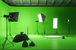 Leinwanddruck Bild - Creative green photo studio