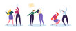 Drinking Problem and Domestic Violence Concept. Abusive Angry Husband Character Punching Hitting Frightened Wife. Global Social Relationship Issue. Flat Cartoon Vector Illustration