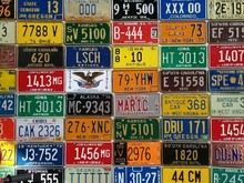 Background, License Plates Of ...
