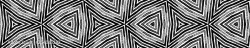 Fototapety, obrazy: Dark black and white Seamless Border Scroll. Geome
