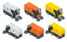 Isometric Road Sweeper Dust Cl...