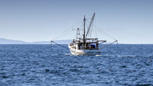 Fishing Trawler At Sea, Port S...