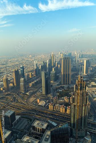 Recess Fitting Dubai Aerial view Dubai city United Arab Emirates