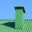 Leinwanddruck Bild - Hood on the roof of metal sheets