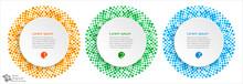 Polka Dots Circle, Text Frame,...