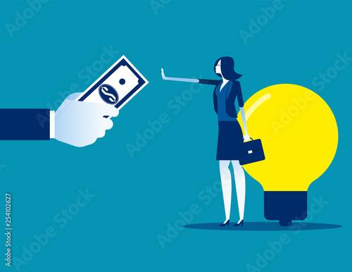 Fotografía  Businesswoman don't sell his ideas