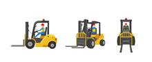 Forklift With Worker