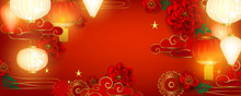 Red Chinese Holiday Background