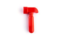 Toy Red Hammer Isolated On Whi...