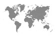 World Map Mono color High Detail Separated all countries Vector Illustration on white background
