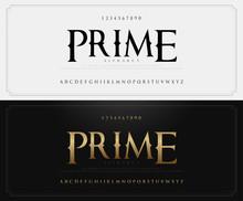 Vintage Alphabet Letters Font And Number Set. Elegant Classic Lettering Designs. Typography Fonts Luxury Style. Vector Illustration