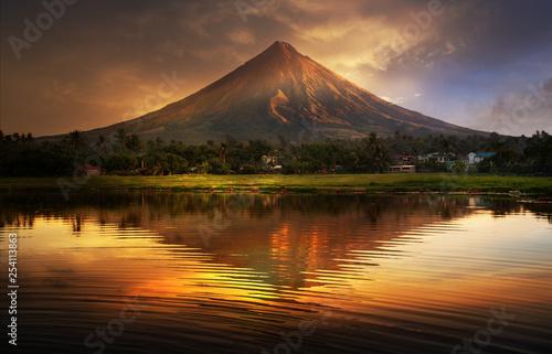 Valokuvatapetti Mayon Volcano , Philippines