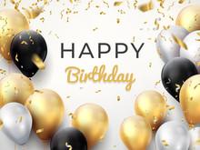 Birthday Balloon Background. G...