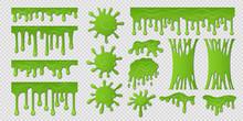 Green Slime. Goo Paint Drip, S...
