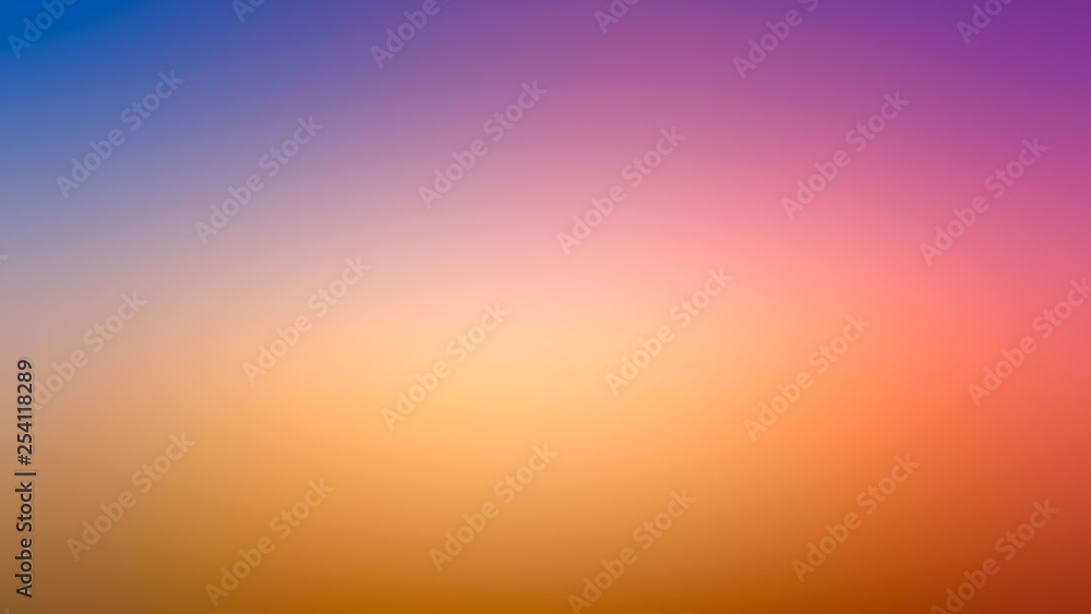 Abstract Blur Gradient Purple And Orange Colors Background