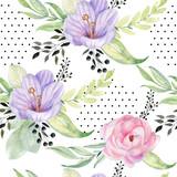 watercolor seamless pattern - 254123854