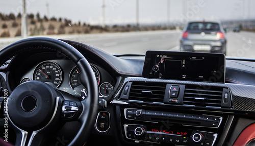 Photo  interior of a car