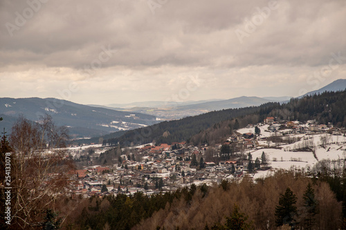 Foto  beautiful view from Silberberg over Bodenmais
