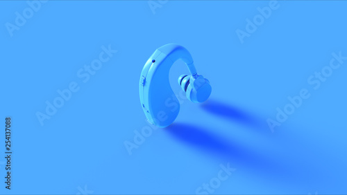 Valokuva  Blue Behind the Ear Hearing Aid 3d illustration 3d render