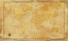 Vintage Style World Map Backgr...